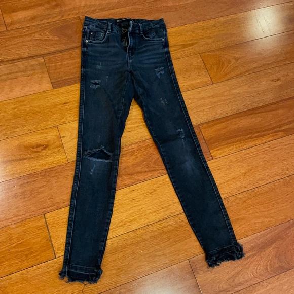 Zara skinny washed black stretchy size 32